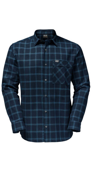 Jack Wolfskin Glacier Shirt Men night blue checks